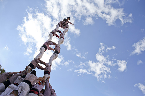 The Day Of The Human Towers Traditional Catalan Competition